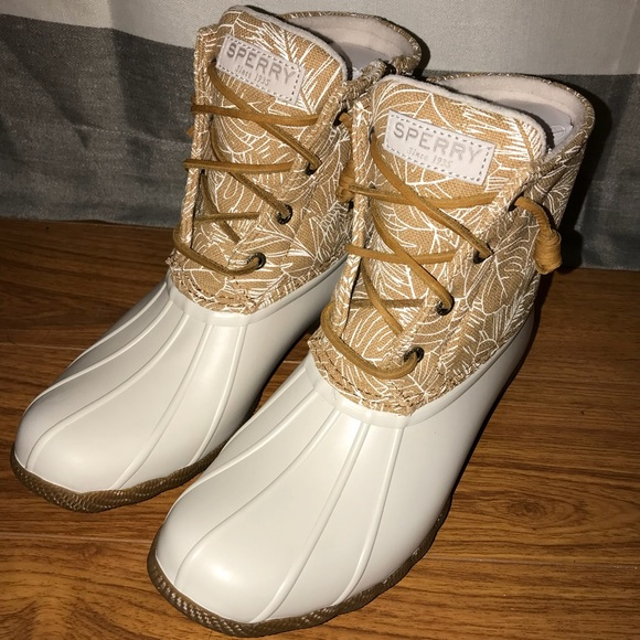 New Womens Sperry Saltwater Duck Boots